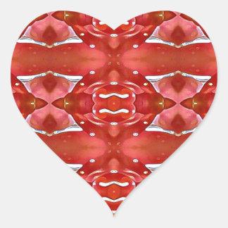 Shades Of Red Modern Festive Design Heart Sticker