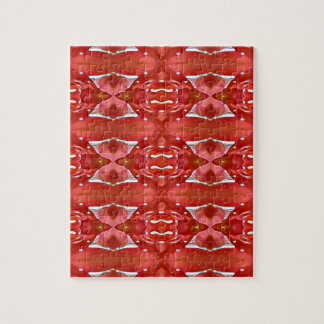 Shades Of Red Modern Festive Design Jigsaw Puzzle