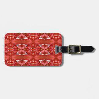 Shades Of Red Modern Festive Design Luggage Tag