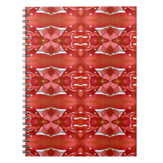Shades Of Red Modern Festive Design Notebooks