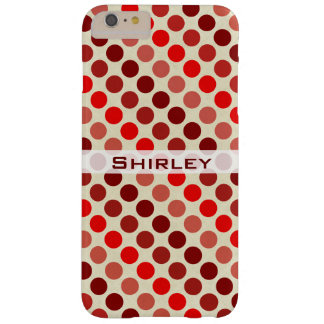 Shades of Red Polka Dots by Shirley Taylor Barely There iPhone 6 Plus Case
