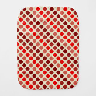 Shades of Red Polka Dots by Shirley Taylor Burp Cloth
