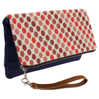 Shades of Red Polka Dots by Shirley Taylor Clutch