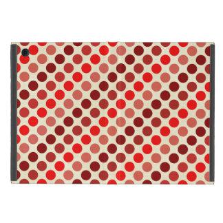 Shades of Red Polka Dots by Shirley Taylor iPad Mini Cover