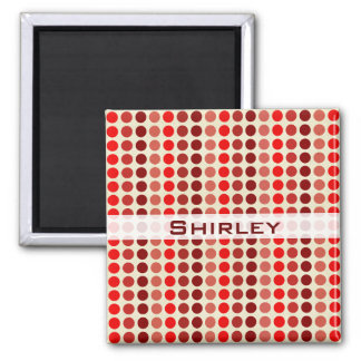 Shades of Red Polka Dots by Shirley Taylor Magnet