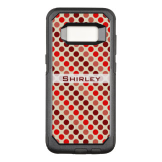 Shades of Red Polka Dots by Shirley Taylor OtterBox Commuter Samsung Galaxy S8 Case