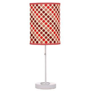 Shades Of Red Polka Dots Table Lamp