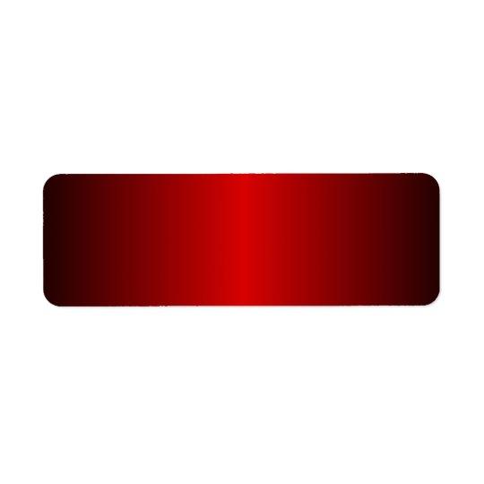 Shades of Red. Return Address Label