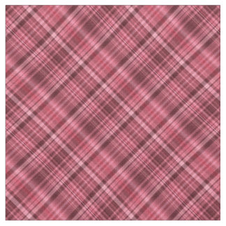 Shades of red tartan fabric
