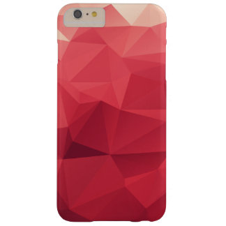 Shades of Red Triangular Facets Geometric Pattern Barely There iPhone 6 Plus Case