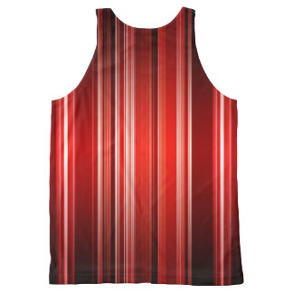 Shades of Red Womens Vertical Striped Tank Top