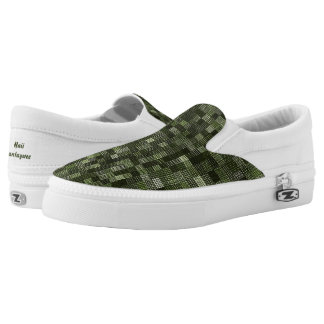Shades Of Rifle Green Slip-On Sneakers