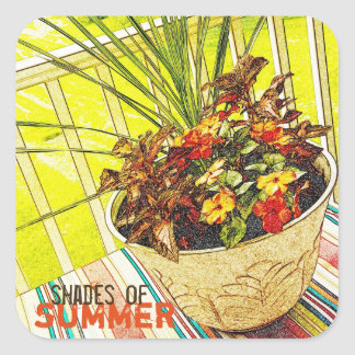 Shades of Summer Original Art Sticker