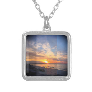 Shades of Sunset Silver Plated Necklace