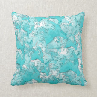 Shades Of Teal Throw Pillow