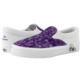 Shades Of Variegated Grape Slip-On Sneakers