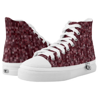 Shades Of Wine Red High Tops