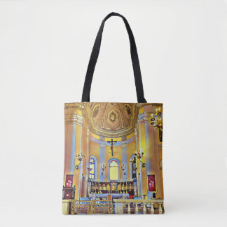 Shades of Yellow Periwinkle Artistic Sanctuary Tote Bag