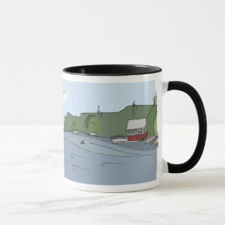 "Shadow Bay Panorama Mug [black ""ringer""] 11oz"