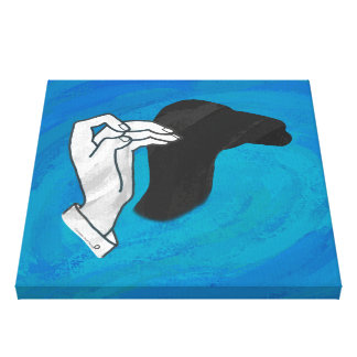 Shadow Camel On Blue Canvas Print