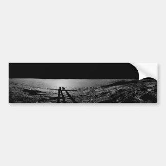 Shadow Cast of Apollo 12 Astronauts on the Moon Bumper Sticker