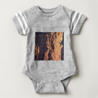 shadow cliff texture baby bodysuit