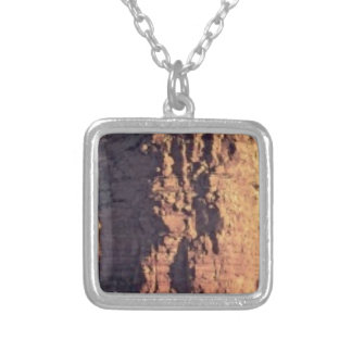 shadow cliff texture silver plated necklace
