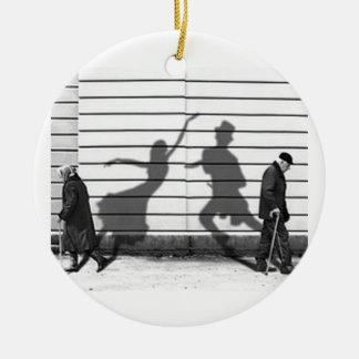 Shadow Dance Ceramic Ornament