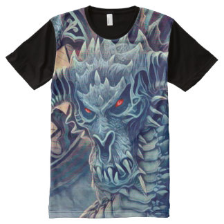 Shadow Dragon Fantasy Art All-Over-Print T-Shirt