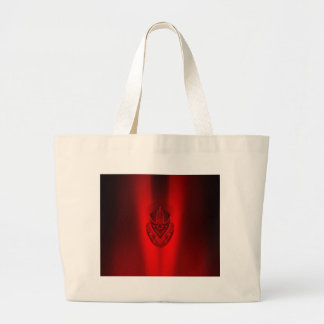 SHADOW DUCK RED LARGE TOTE BAG