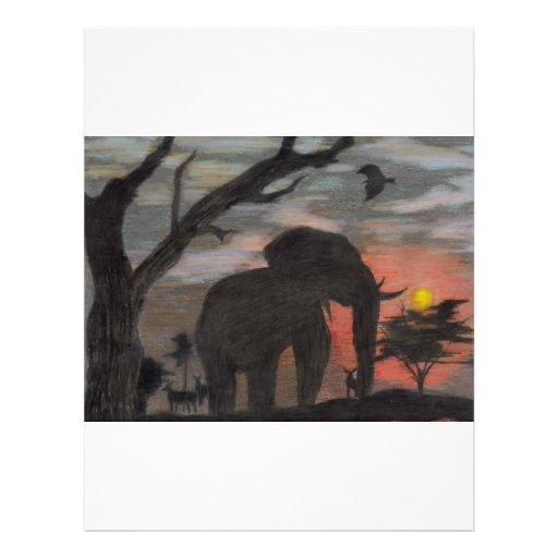 Shadow Elephant Custom Letterhead
