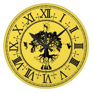 Shadow Fairies Tree Wall Clock