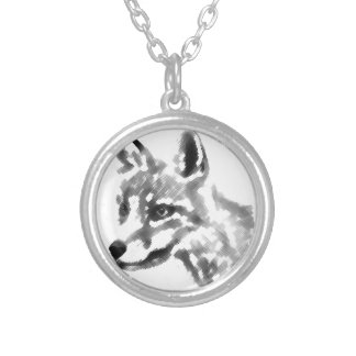 Shadow Fox Silver Plated Necklace