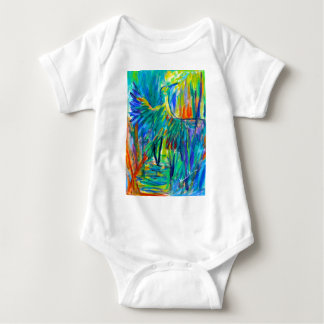 Shadow Heron Baby Bodysuit