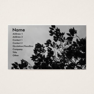 Shadow Leaves Business Card