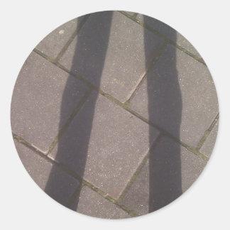 Shadow Legs Round Sticker