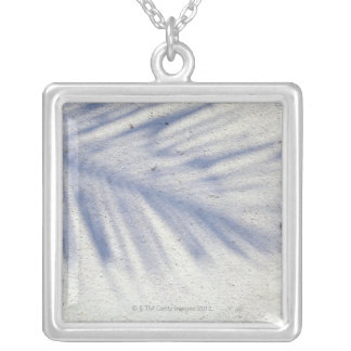 Shadow of Palm Tree 3 Silver Plated Necklace