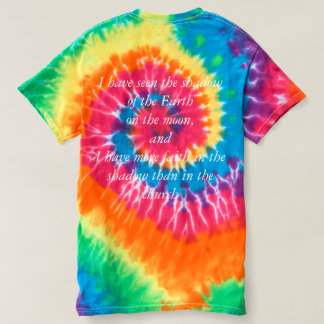 shadow of the Earth tie die T-shirt
