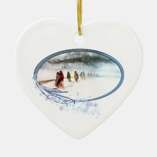 Shadow of the Owl on the Trail of Tears Ceramic Ornament