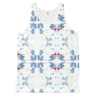 Shadow pattern All-Over-Print tank top