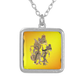 Shadow Puppets Indonesian Silver Plated Necklace