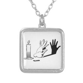 Shadow Rabbit by Lightillusions.com Silver Plated Necklace