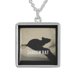 Shadow Rat Sterling Silver Pendant Necklace