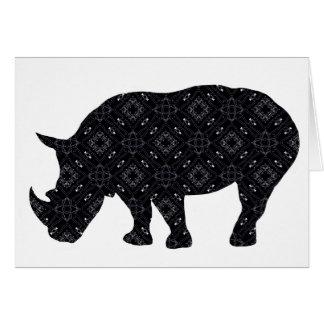 Shadow Rhino Greeting Card