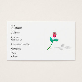 Shadow Rose Business Card