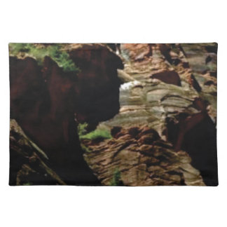 shadow shades of rocks placemat