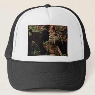 shadow shades of rocks trucker hat