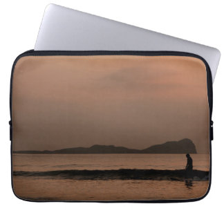 Shadow surfing laptop sleeve