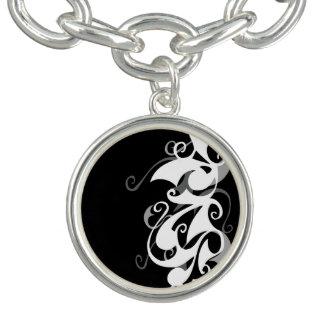Shadow Swirl Charm Bracelet