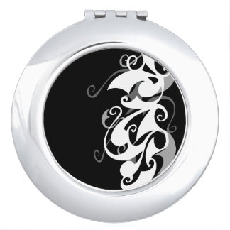 Shadow Swirl (Circle Compact) Vanity Mirror